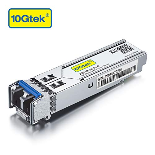 1.25G SFP Transceiver 1000Base-LX, 1310nm SMF, up to 10 km, for Cisco GLC-LH-SMD, Meraki MA-SFP-1GB-LX10, Ubiquiti, Mikrotik, D-Link, Supermicro, Netgear and More.