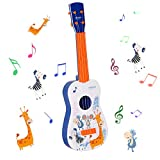 Shayson Kids Toy Guitar 4 String,Baby Kids Electronic Ukulele Cute Guitar Rhyme Musical Instrument Educational Toy for Beginner Boys Girls Toddlers