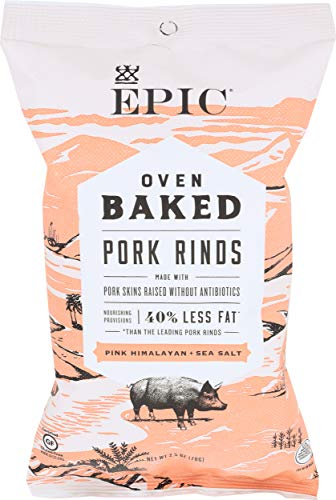 EPIC PROVISIONS Oven Baked Himalayan Sea Salt Pork Rinds, 2.5 OZ