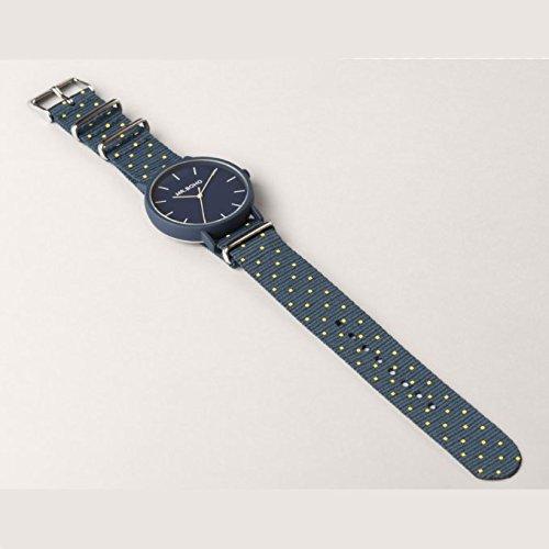 Mr. Boho Reloj 30a-DD Yellow/Blue Square gomato 40mm
