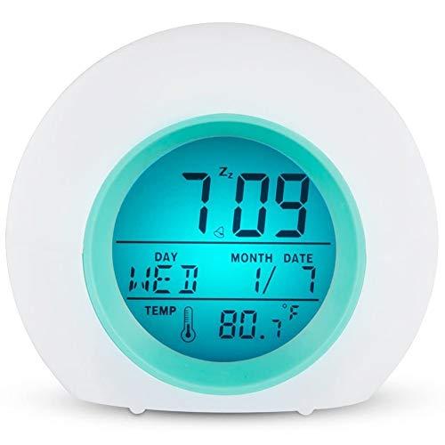 Reloj Despertador para niños, Reloj Despertador, Pantalla Digital para niños, Reloj Despertador y luz Nocturna para Viajes a casa, Trabajo para traviesas Pesadas JU-809N