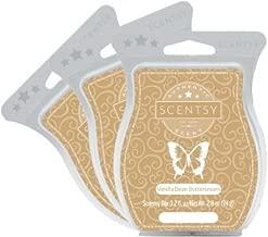 Scentsy, Vanilla Bean Buttercream, Wickless Candle Tart Warmer Wax 3.2 Oz Bar, 3-pack (3)