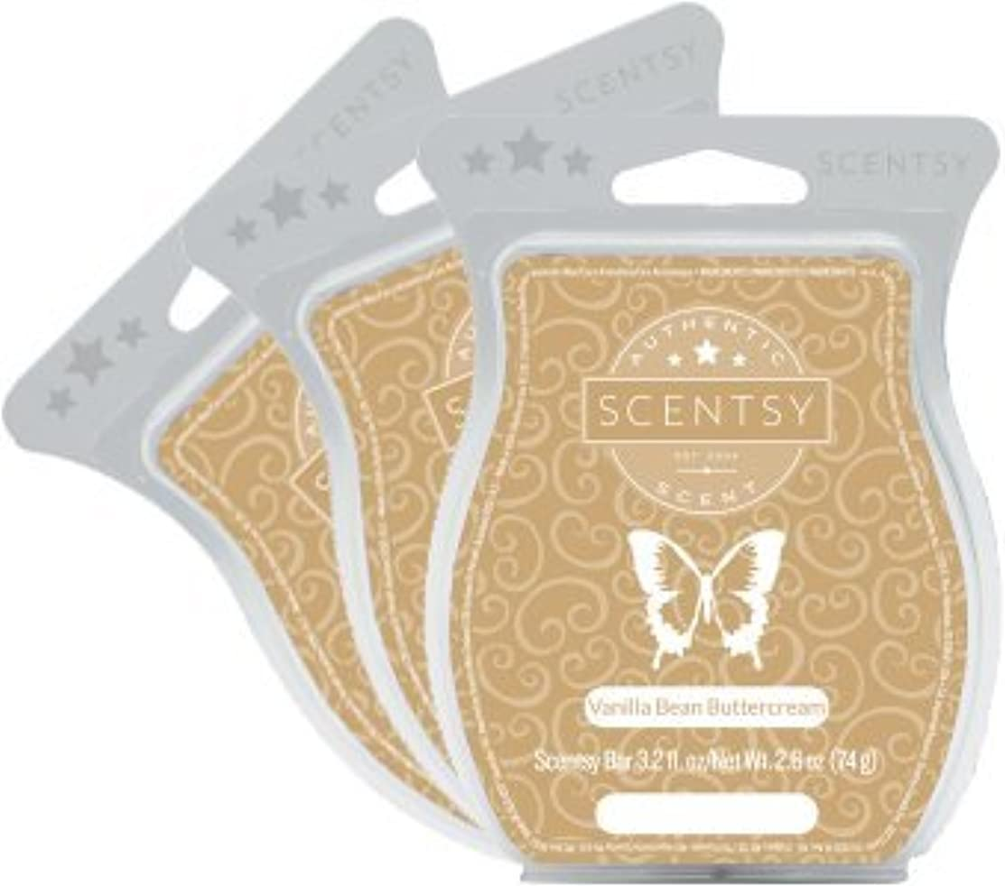 Scentsy, Vanilla Bean Buttercream, Wickless Candle Tart Warmer Wax 3.2 Oz Bar, (3) by Scentsy Fragrance