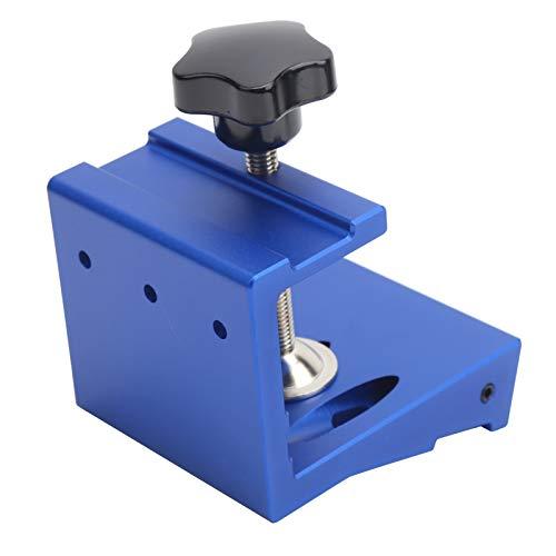 Plantilla de orificios para carpintería Aleación de aluminio Perforadora de orificios inclinados Suministros industriales Espesor de la placa de procesamiento 10 mm-35 mm(azul)