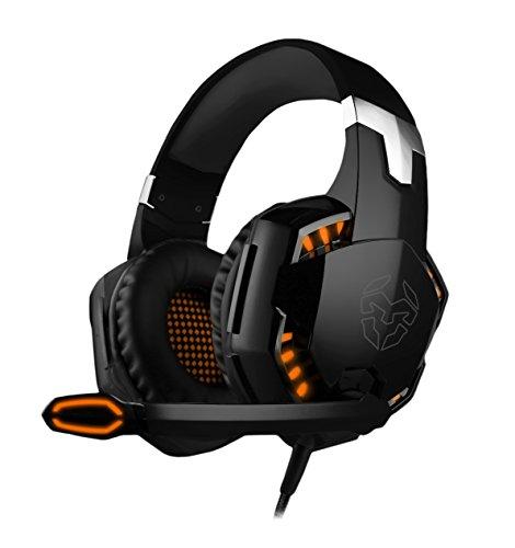 Krom Cascos Gaming KYUS -NXKROMKYS- Auriculares con micrófono, Sonido 7.1, Altavoces 50mm,...