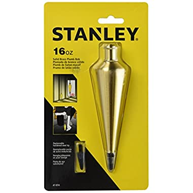 Stanley 47-974 16 oz Brass Plumb Bob