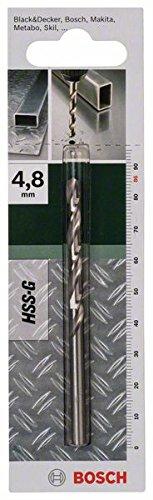 Bosch Metallbohrer HSS-G geschliffen (Ø 4,8 mm)