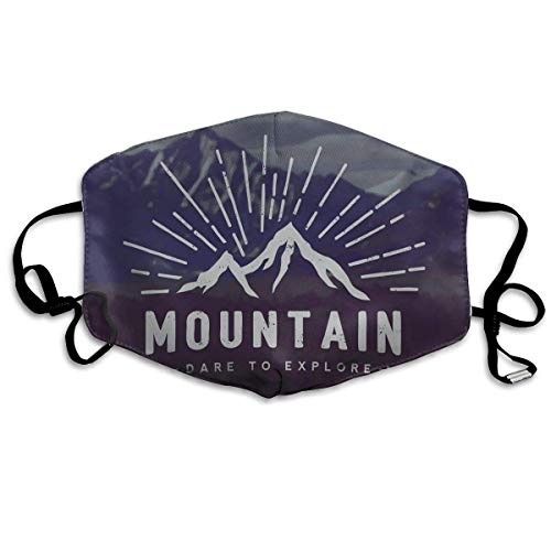 Fun-World Bequeme Winddichte Maske, Wagen Sie zu erkunden Zitat Berglandschaft Reise Abenteuer Themen Motivationsbild