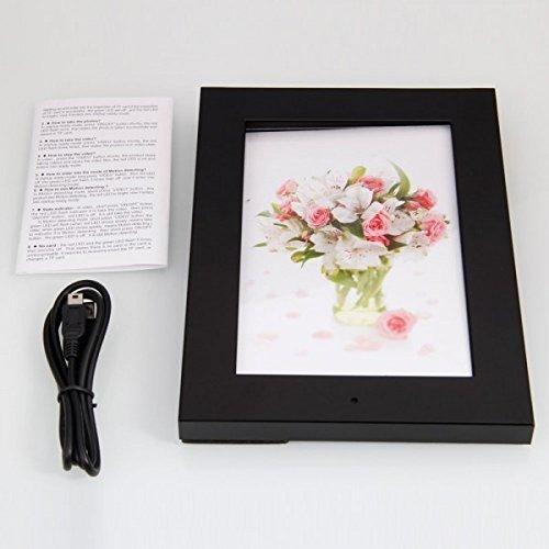JC nuevo marco de fotos oculta niñera espía cámara de vídeo cámara de fotos/micrófono con función de detección de movimiento (negro)
