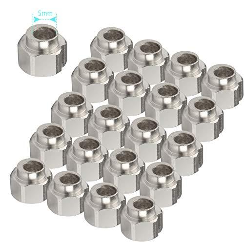 20pcs 5mm Tuerca Excéntrica usada con Rodillo Ruedas para Impresora 3D, Diámetro 5 mm excéntrica espaciadores para Impresora de Aluminio V de la Rueda de Extrusión 3D