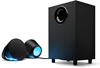 Logitech G560 PC Gaming Speaker System with 7.1 DTS:X Ultra Surround Sound, Game based LIGHTSYNC RGB, Two Speakers and Sub...