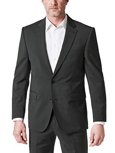 Walbusch Herren Naturstretch Anzug Sakko einfarbig Anthrazit 52