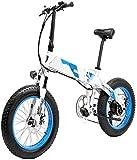 Bici electrica, Pedal adultos plegable bicicleta eléctrica asistida eléctrica de la bicicleta 20 pulgadas bicicleta con motor 1000w 13Ah Lg Batería de Litio for los viajeros en las ciudades fuera de l