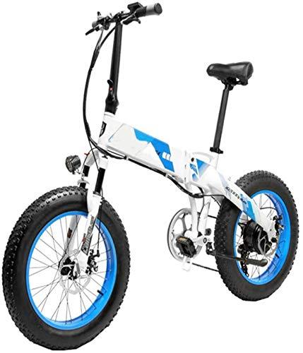 Bicicleta eléctrica de nieve, Pedal adultos plegable bicicleta eléctrica asistida eléctrica de la bicicleta 20 pulgadas bicicleta con motor 1000w 13Ah Lg Batería de Litio for los viajeros en las ciuda