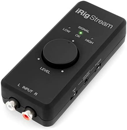 IK Multimedia iRig Stream 2 channel recording live streaming audio interface for iPhone iPad product image