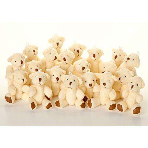 NEUF - 45 X Oursons En Peluche Blanc - Doux Mignonne Adorable - Cadeau Noël Anniversaire