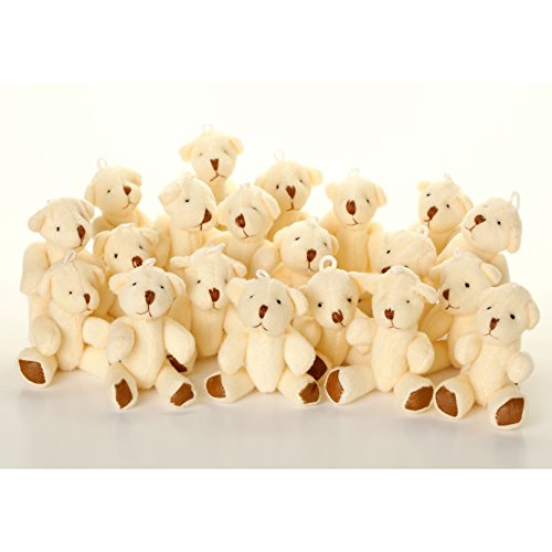 NEW Cute And Cuddly Little WHITE Teddy Bear X 28 - Gift Present Birthday Xmas