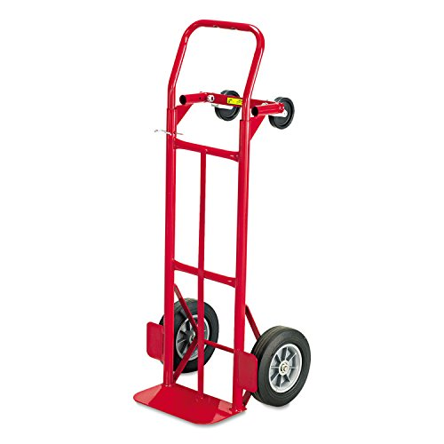Safco 4086R Two-Way Convertible Hand Truck 500-600lb Capacity 18w x 51h Red