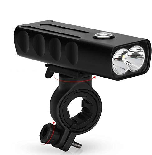 licht voor mountainbikes, oplaadbaar USB 1000, led-schijnwerper, groothoek, 6 uur accuduur.