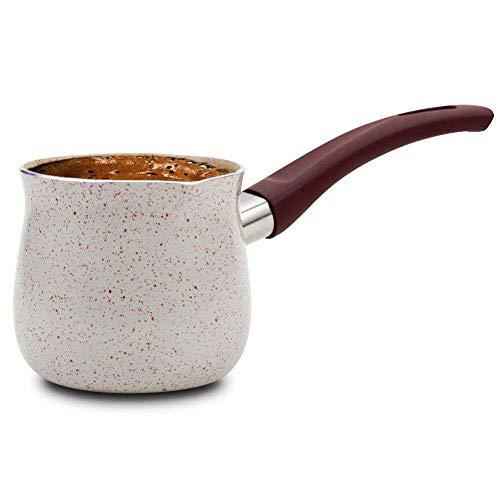 NAVA Schmelztiegel/Türkische Kaffeekanne mit Keramikbeschichtung für die Zubereitung von türkischem Kaffee 430 ml