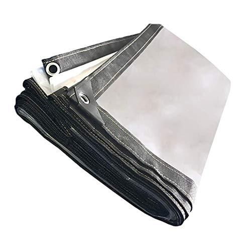 HCYTPL Klarsicht-Plane wasserdicht Heavy Duty Sheet Regenschutz mit Metallloch Eye Plastic 120 g/M ²,2 * 3m