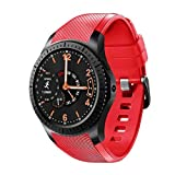 Lg-jz Smart Watch 3G Smart Watch Cellulare WiFi Full Touch Touch Screen Plug Scheda telefonica Frequenza cardiaca Step Fashion Watch Smart Bracelet (Dimensioni : Rosso)
