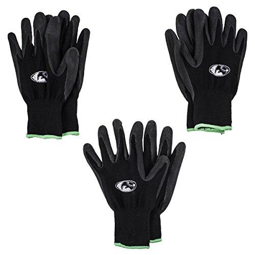 Black Rhino 00462 Black-Nitrile Work Gloves, Small