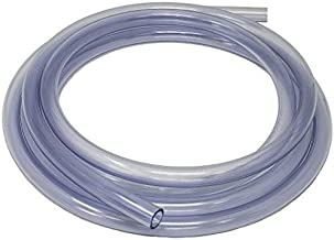 Sealproof Unreinforced PVC Clear Vinyl Tubing, Food Grade, 1/2-Inch ID x 5/8-Inch OD, 10 FT, Made in USA