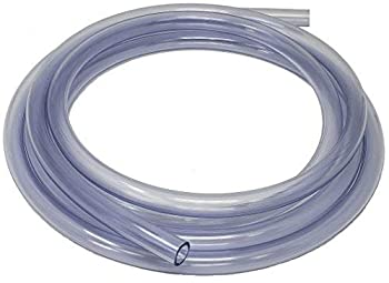 Sealproof Unreinforced PVC Clear Vinyl Tubing Food Grade 1/2-Inch ID x 5/8-Inch OD 10 FT Made in USA
