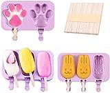 3 piezas, molde para helado, máquina para hacer paletas de hielo, molde para paletas de hielo, molde para helado antiadherente, molde para helado