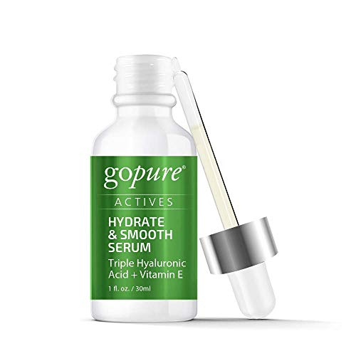 goPure Actives Hyaluronic Acid Serum with Vitamin E & C for Face, Eye
