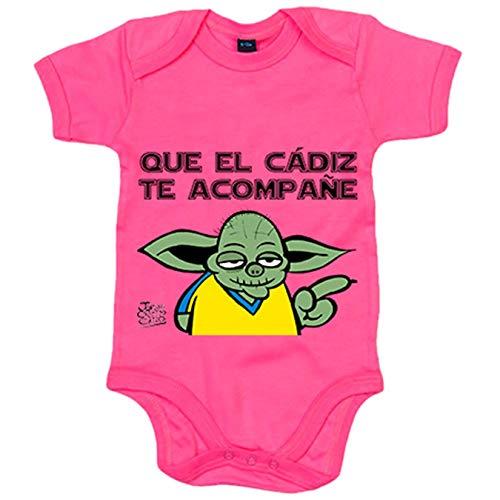 Body bebé que el Cádiz te acompañe - Rosa, 6-12 meses