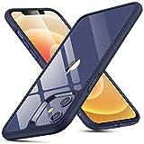 ESR iPhone 12 ケース/iPhone 12 Pro ケース 6.1 inch 2020 新型 ガラスケース 強化ガラス+TPUバンパー 硬度9H 薄型 透明 黄変防止 衝撃吸収 Qi充電対応 iPhone 12/12 Pro 用 カバー – ブルー