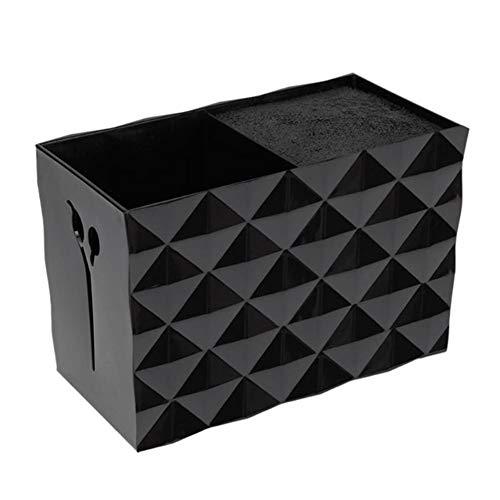 NACHEN Schere Halter Kämme Veranstalter Friseur Aufbewahrungskoffer Friseursalon Werkzeuge Container (Black 1, 15.1x8x10.5cm)