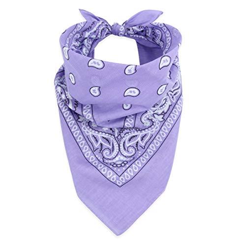 Fabric Face Cover Multi-Purpose Cotton Unisex Bandana - Mouth Shield Scarf Paisley Flag Handkerchief, Headwear Balaclava Wrap (Bandana Scarf - Pattern Lavender, 1)
