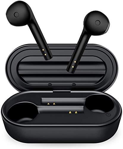 Cuffie Bluetooth, Auricolari Bluetooth 5.0 Senza Fili TWS Auricolari Wireless nell orecchio Sportivi con USB-C Custodia da Ricarica Microfono Stereo 25H Impermeabile Touch Control Microfoni Integrati