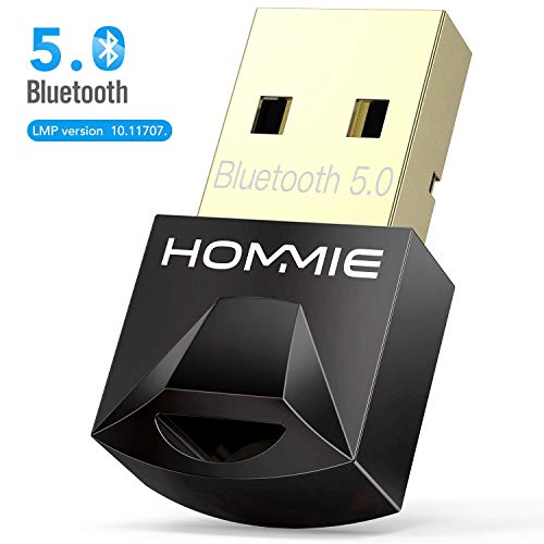 Adaptador de Bluetooth 5.0,Hommie Bluetooth USB PC Window7/8