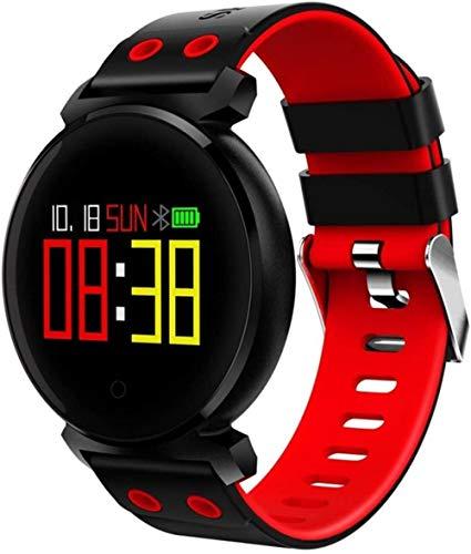 JSL Reloj inteligente Bluetooth de alta definición con pantalla a color compatible con podómetro, presión arterial