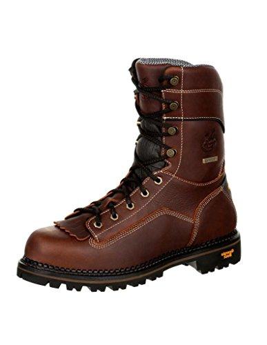 Georgia Boot AMP LT Logger Low Heel Waterproof Work Boot Size 9.5(W) Brown
