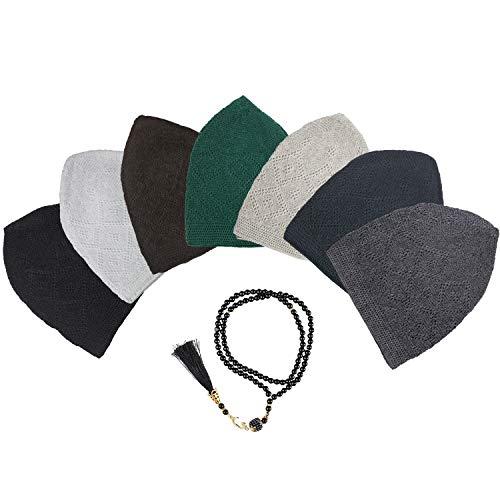 POLAT - 7 Pieces - 100% Cotton Kufi Hat - Kufi Hats for Men Muslim - Muslim Hats for Men - Perfect Ramadan Gifts - Skull Cap - Taqiyah