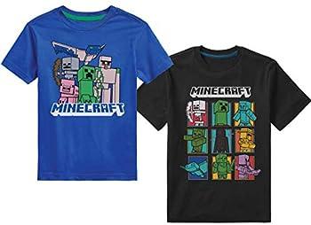 Minecraft Boys Short Sleeve Regular Fit Blue/Black 5/6