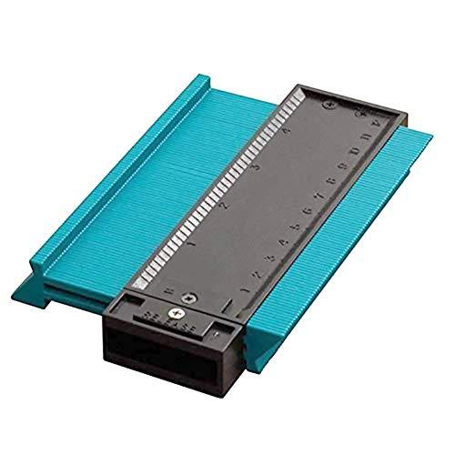 QUUY Profielleer - contourleer | 5 inch duplikator profiel meetinstrument | Kunststof onregelmatige contourmeter | Multifunctioneel houtbewerkingsgereedschap | Voor het leggen van tegels, laminaat,