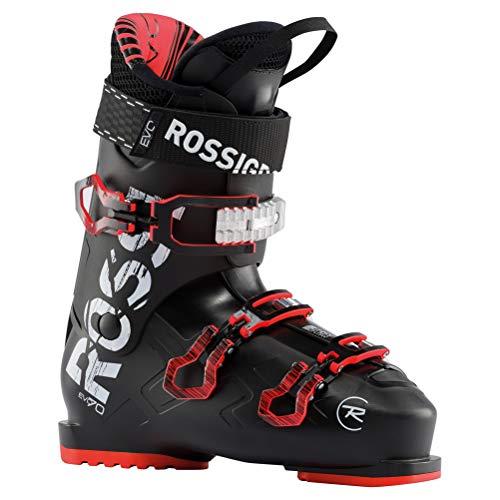 Rossignol Evo 70 Skischuhe, Negro y Rojo, 28
