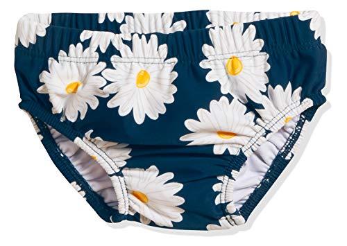 Playshoes Baby-Mädchen UV-Schutz Windelhose Margerite Schwimmwindel, Blau (Marine 11), 74 (Herstellergröße: 74/80)