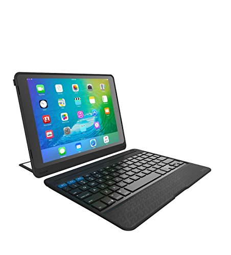 """ZAGG Rugged Book Pro – Magnetic-Hinged Bluetooth Keyboard and Case for Apple iPad Pro 9.7"""" – Black"""