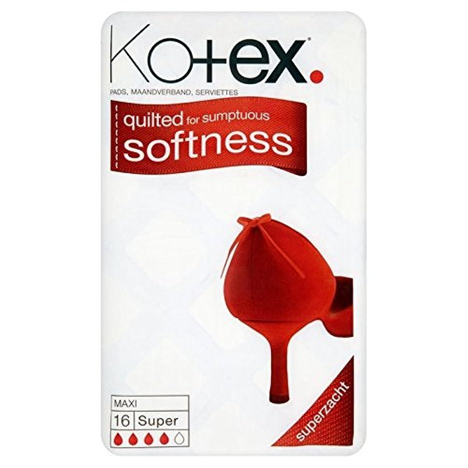 服を洗う彫る加入マキシパッドパックあたりのスーパー16 x2 - Kotex Maxi Pads Super 16 per pack (Pack of 2) [並行輸入品]
