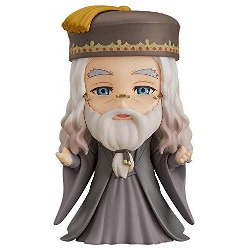 Versión Q Figura de Albus Dumbledore, modelo de personaje de Harry Potter de 3.9 pulgadas, múltiples accesorios incluidos, movimiento de articulación Nendoroid, película de material de PVC Figma