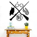Harry Magic Movie Potter Owl Magical Scepter Broom Glass Hogwarts...