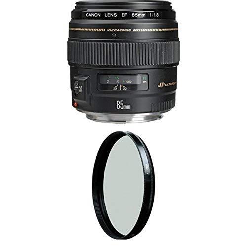 Canon EF 85mm f/1.8 USM Medium Telephoto Lens for...