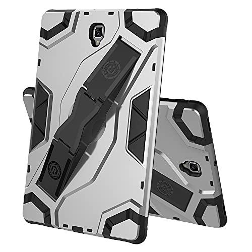 Tablets Duras Caja de tabletas para Samsung Galaxy Tab S4 T835, TPU + PC Cubierta Protectora multifunción a Prueba de Golpes de PC con Soporte de asa Plegable Tablets Fundas (Color : Gray)